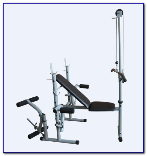 Weight Bench With Lat Tower