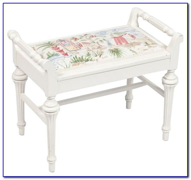 White Bedroom Bench Seat