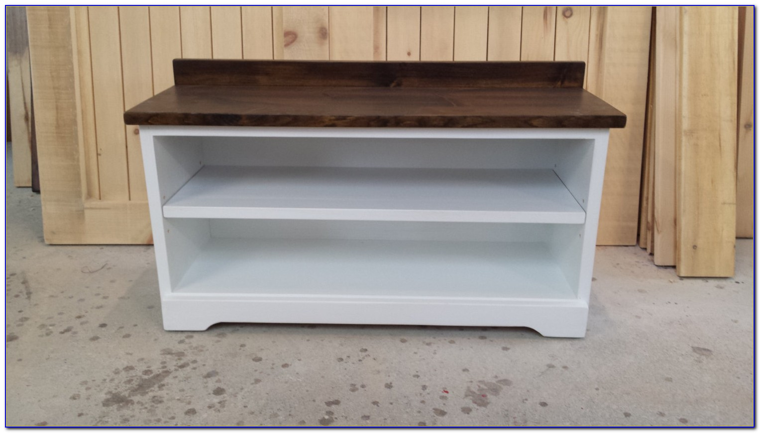White Entryway Shoe Bench