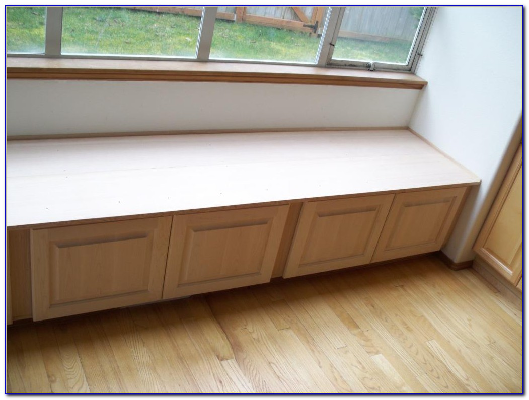 White Storage Seating Bench