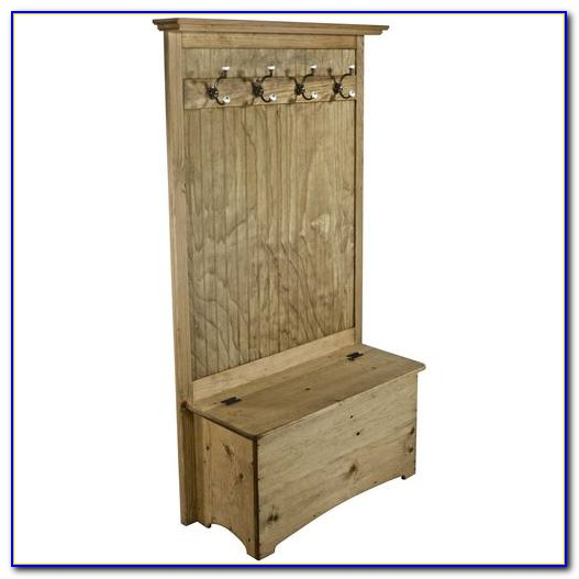 Wildwood Wood Veneer Entryway Hall Tree With Storage Bench By Altra
