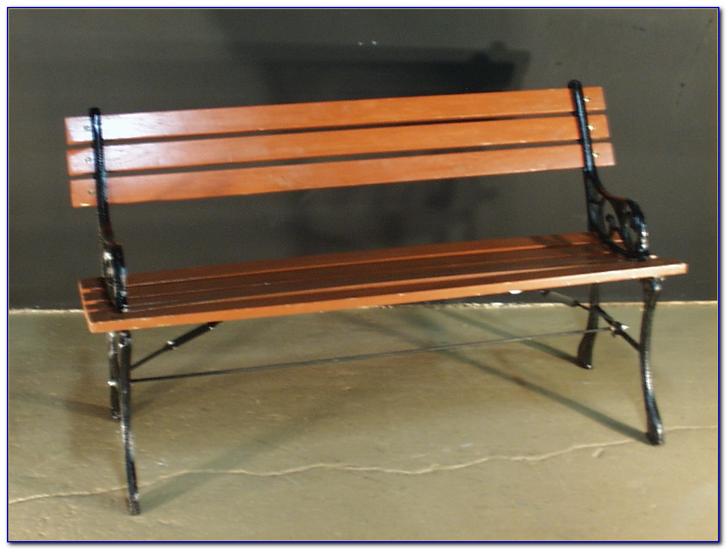 Wood And Wrought Iron Garden Bench