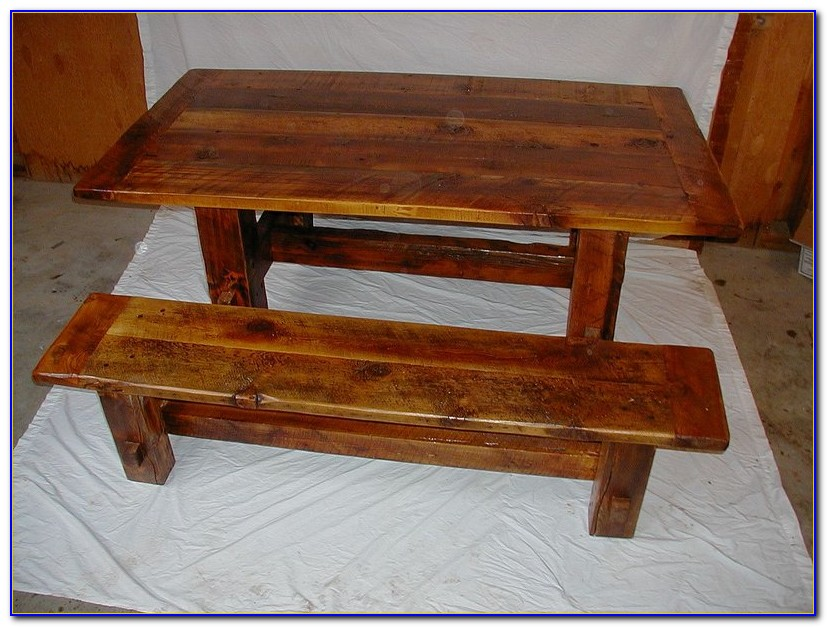 Wooden Bench Seat Dining Table