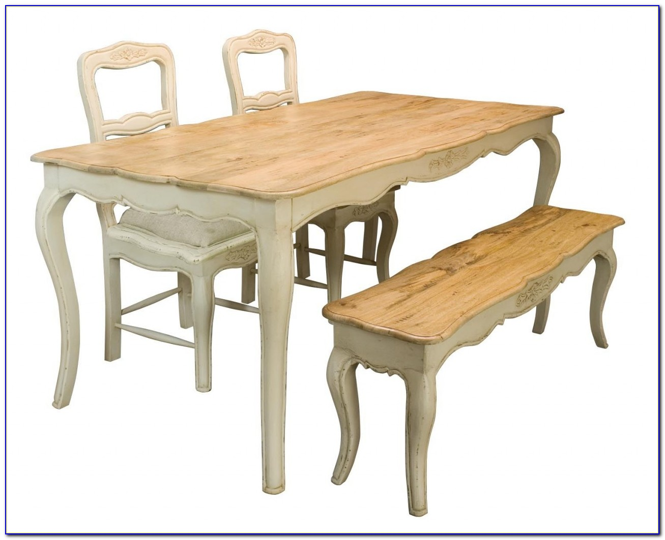 Wooden Bench Style Dining Table