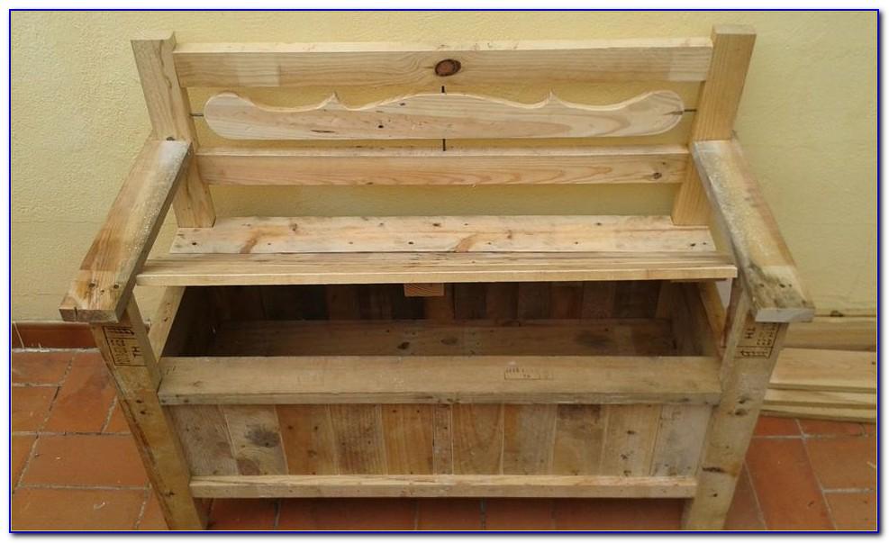 Wooden Bench With Storage Underneath Outdoor