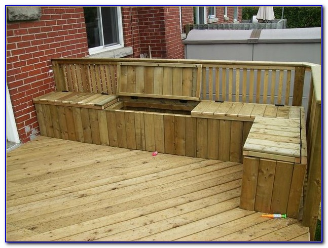 Wooden Deck Benches With Storage