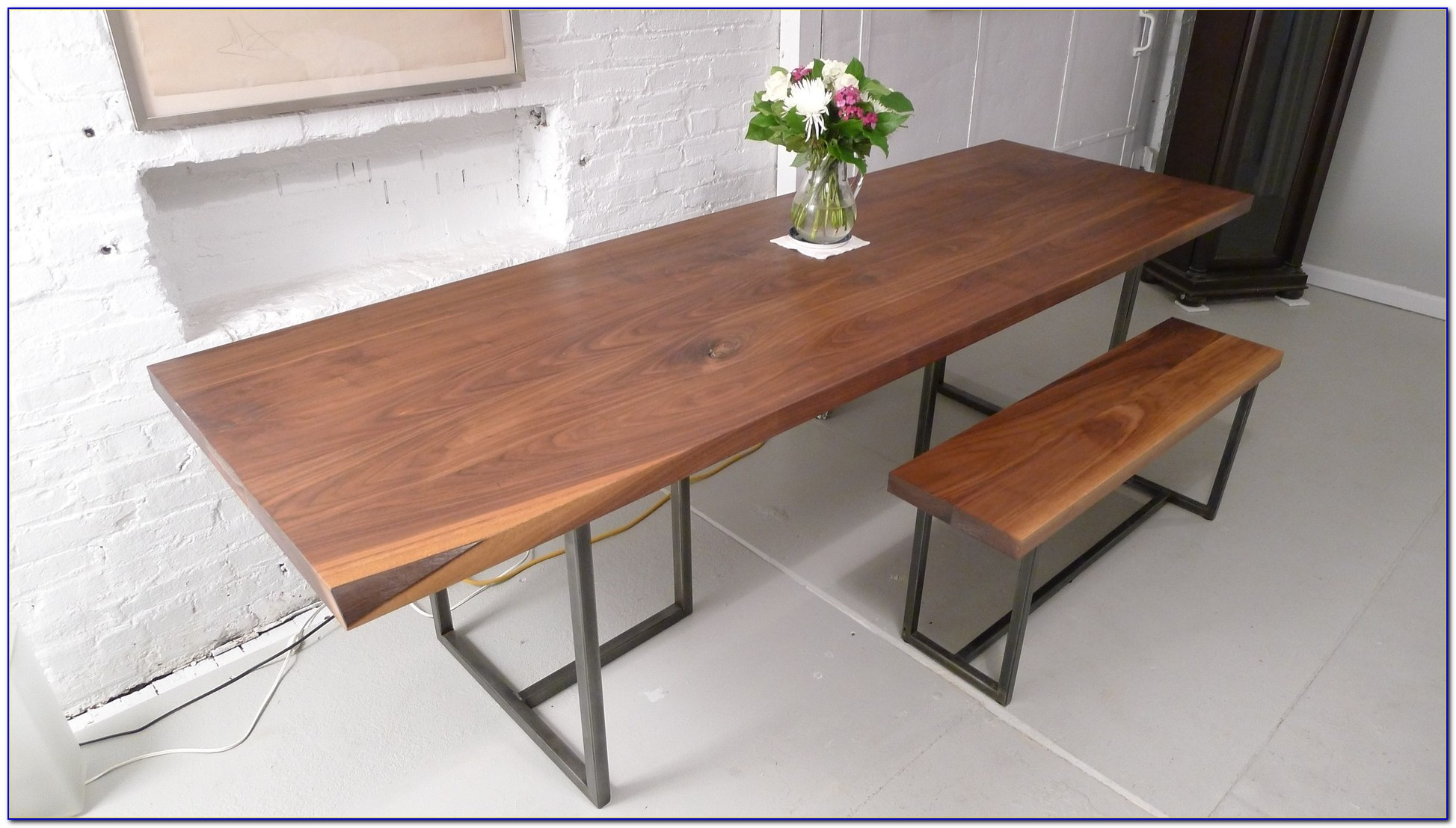 Wooden Dining Room Table With Bench