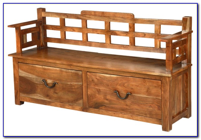 Wooden Entry Benches With Storage