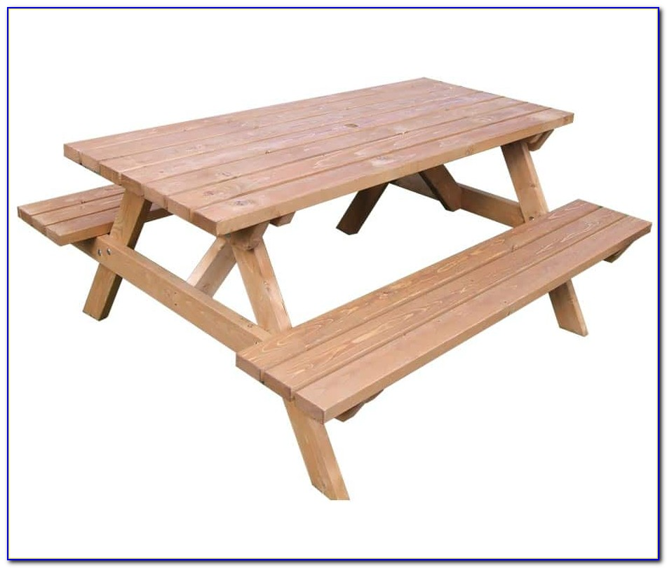 Wooden Picnic Table Benches Plans