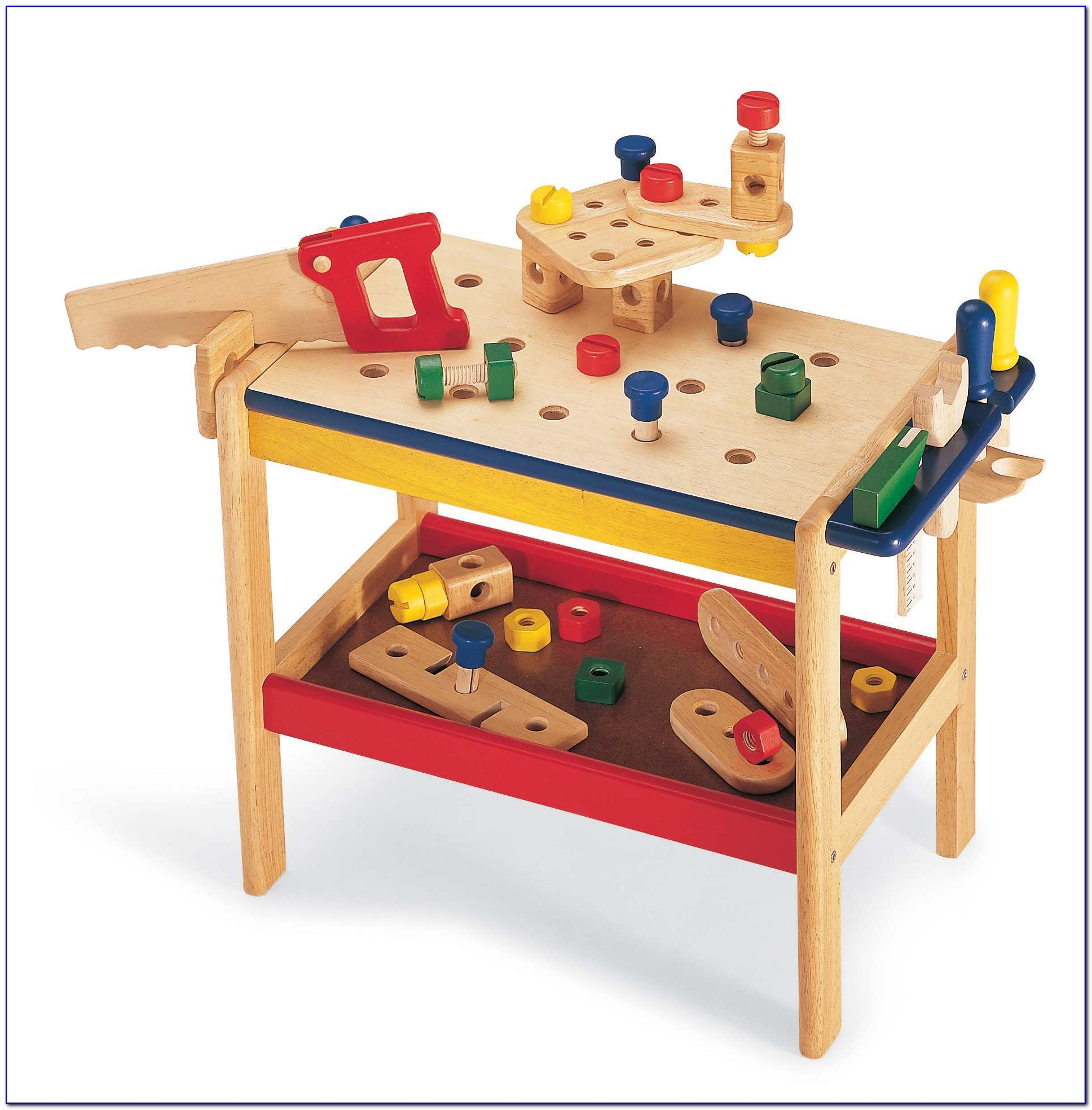 Wooden Toy Tool Bench Target
