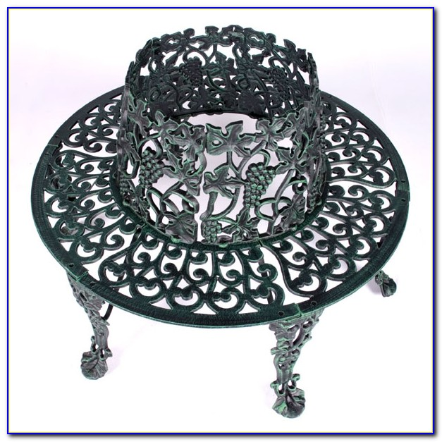 Wrought Iron Circular Tree Bench