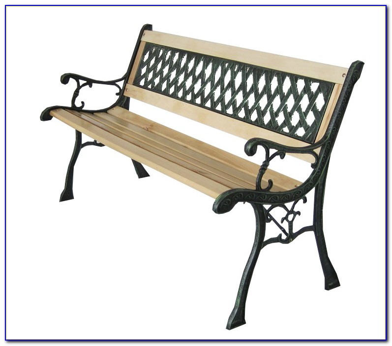Wrought Iron Garden Bench Seat