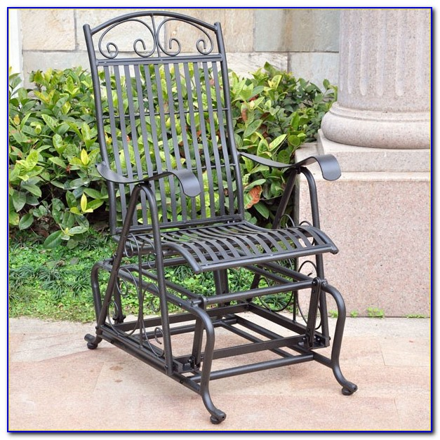 Wrought Iron Glider Outdoor Furniture