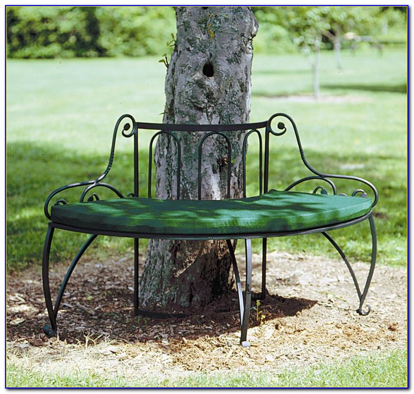 Wrought Iron Tree Surround Bench
