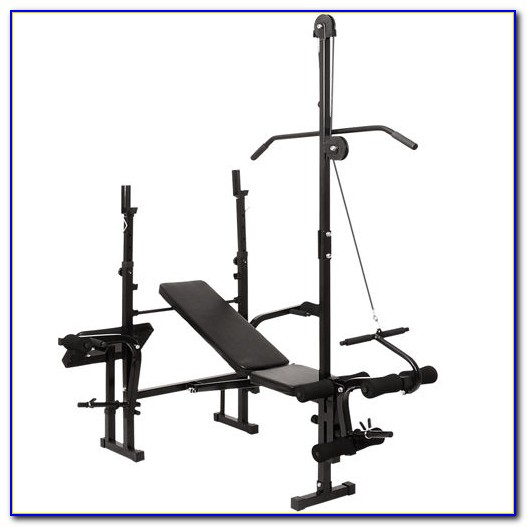 York Weight Bench With Lat Pulldown