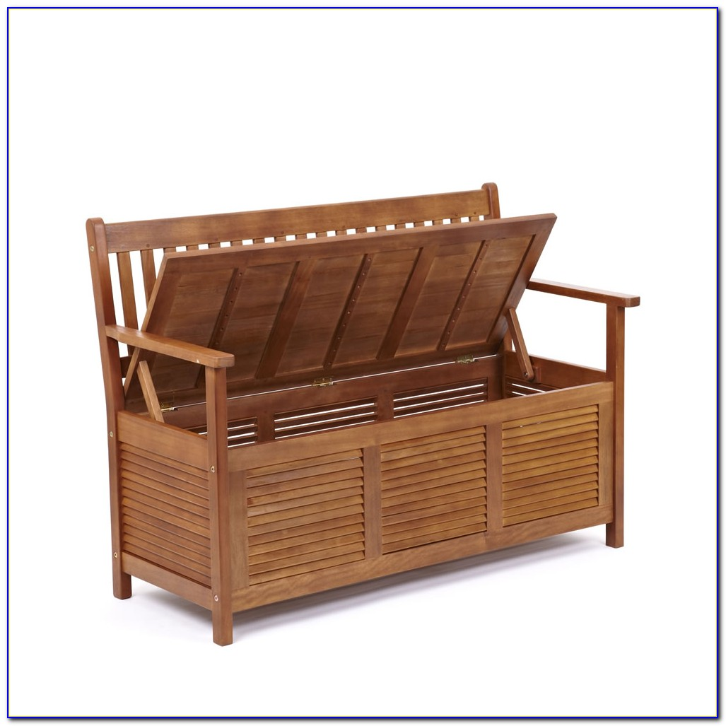 2 Seater Garden Storage Bench