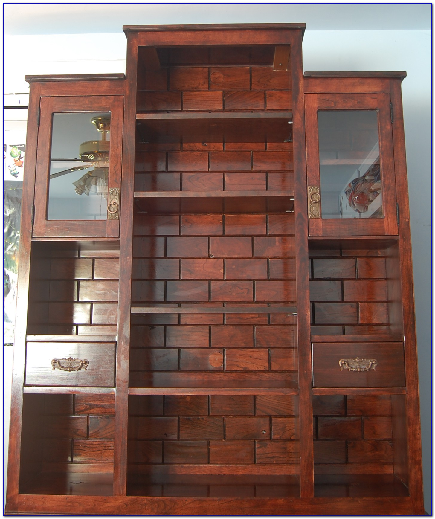 2 Shelf Dark Cherry Bookcase
