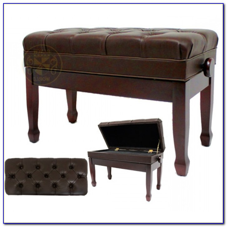 Adjustable Duet Piano Stool With Storage