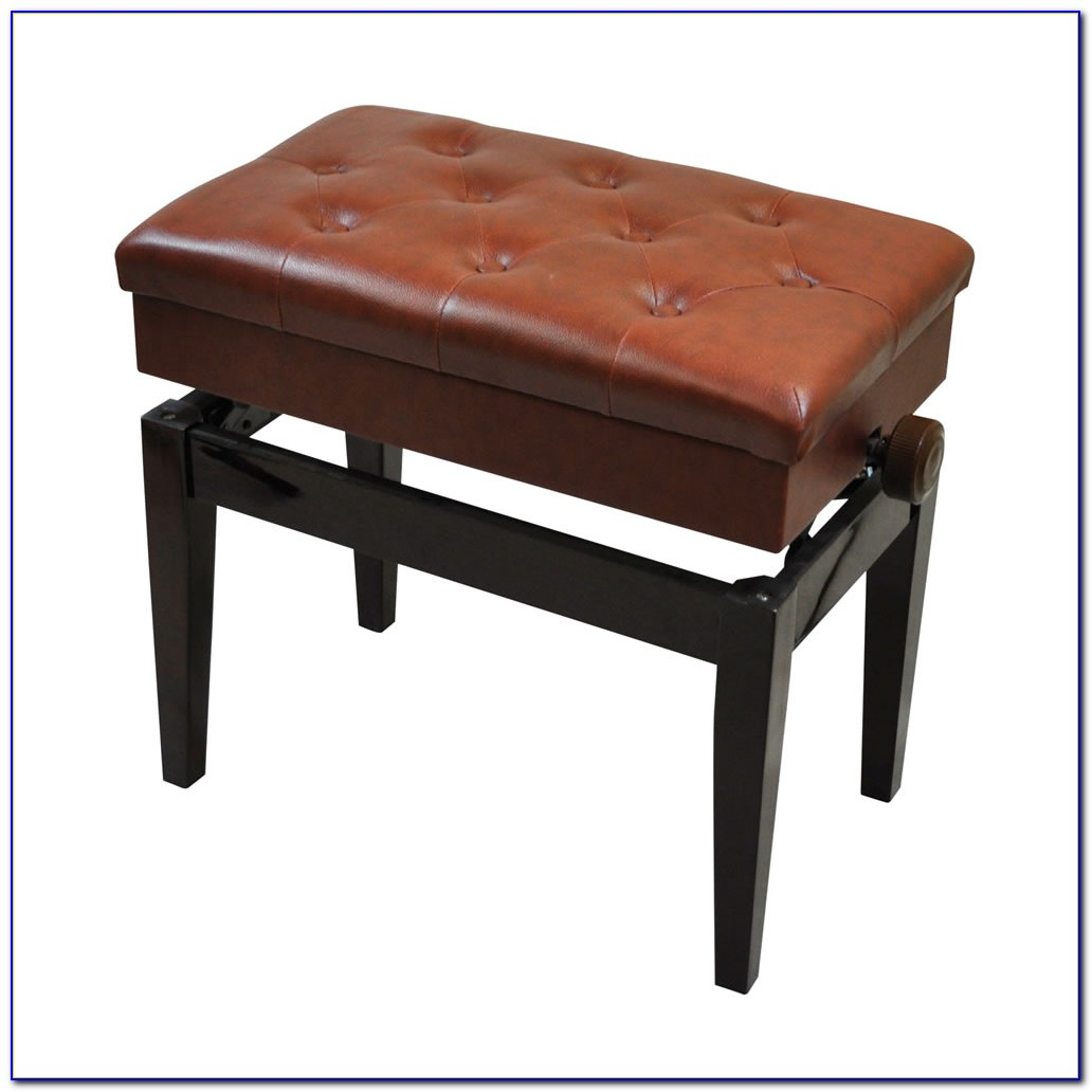 Adjustable Piano Stool With Storage Rosewood