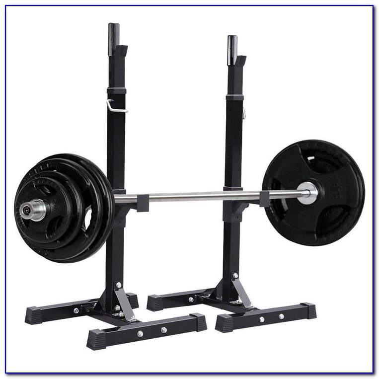 Adjustable Weight Bench With Squat Rack