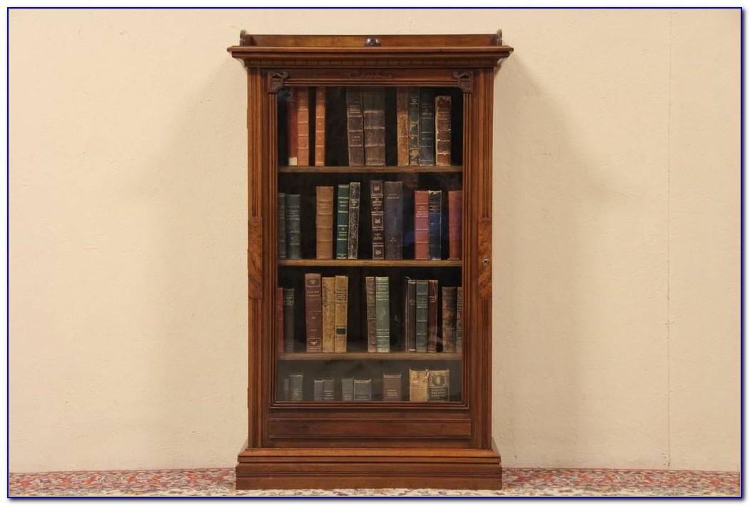 Antique Bookshelf With Glass Doors