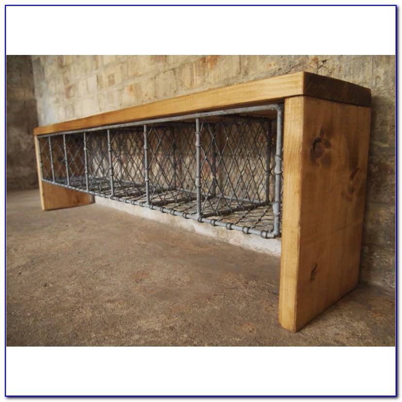 Antique Locker Room Bench