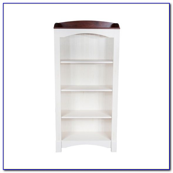 Antique White Corner Bookcase