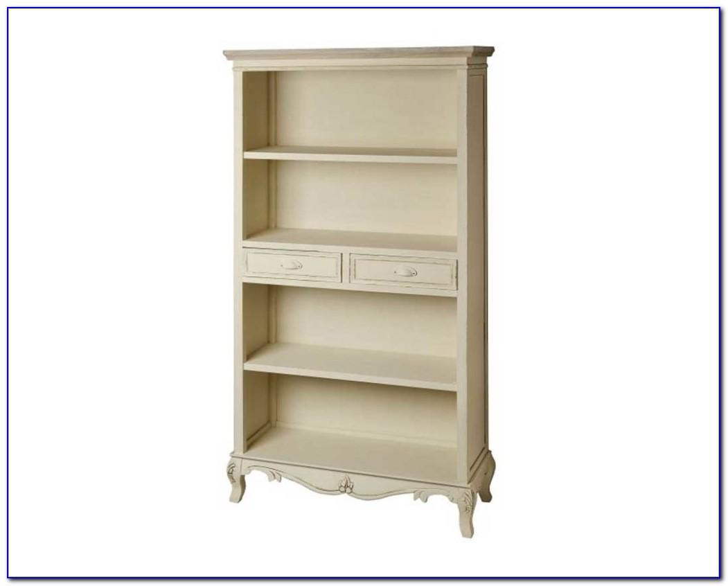 Antique White Distressed Bookcase