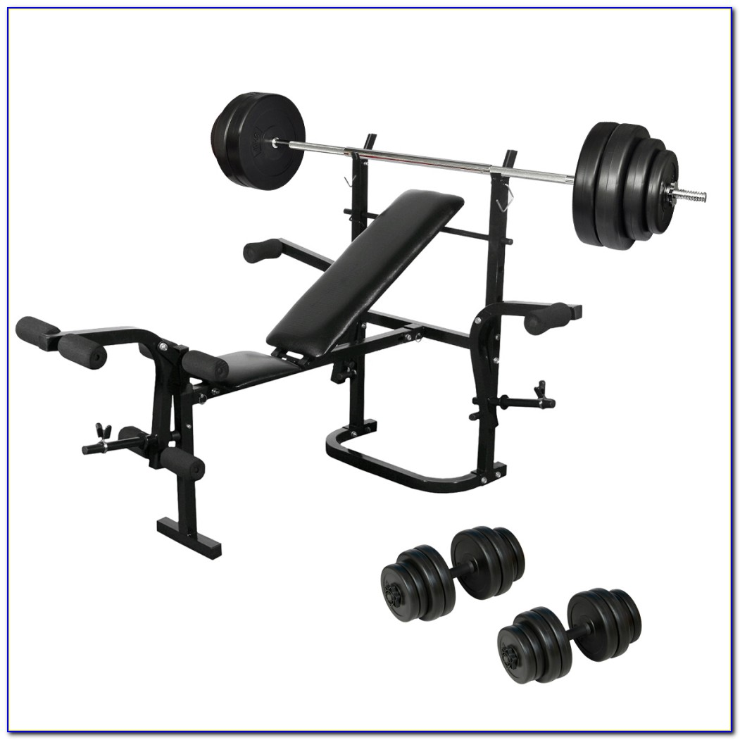 Bayou Fitness Dumbbell Set And Bench