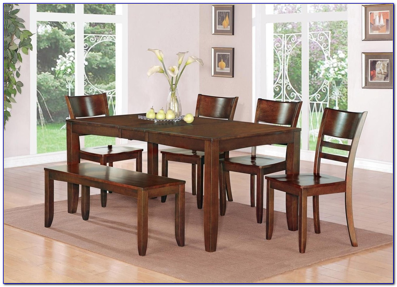 Bench Seat Dining Table Set