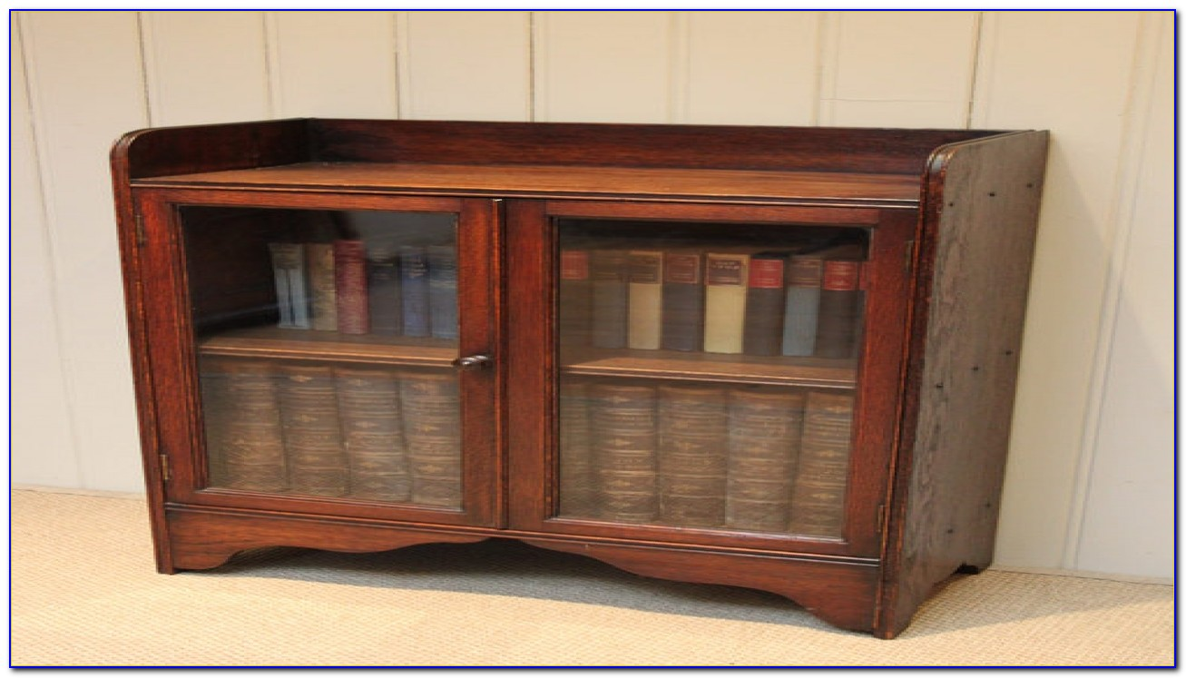 Black Gloss Bookcase With Doors