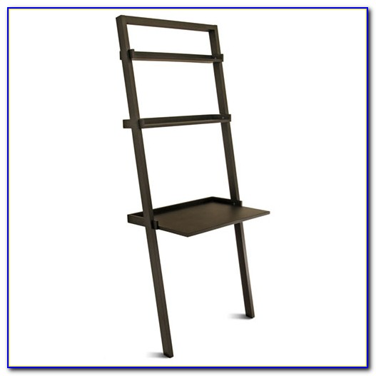 Black Leaning Bookshelf 5 Tier