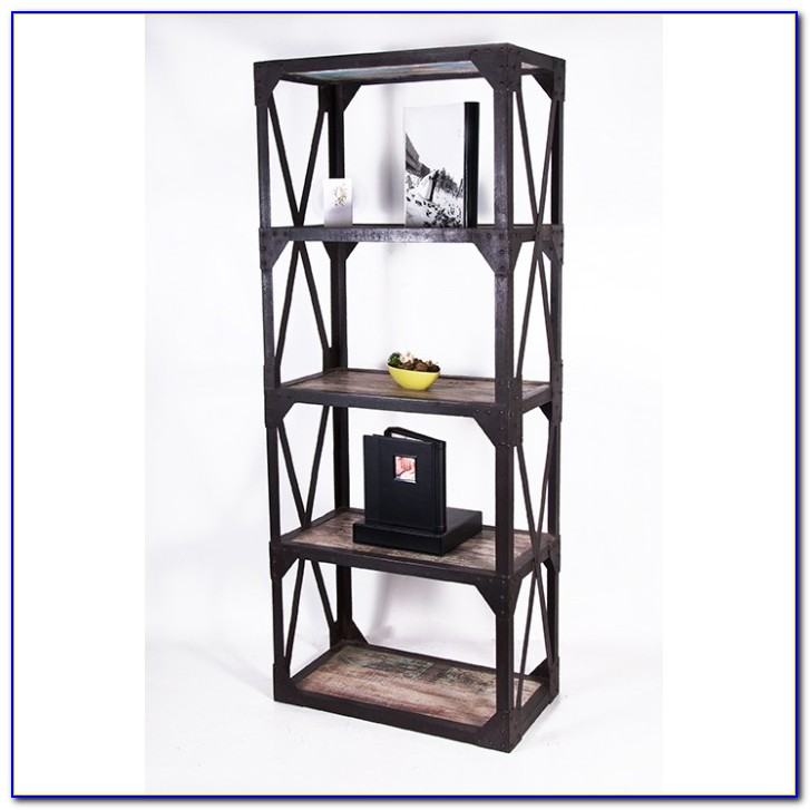 Black Metal Folding Bookcase