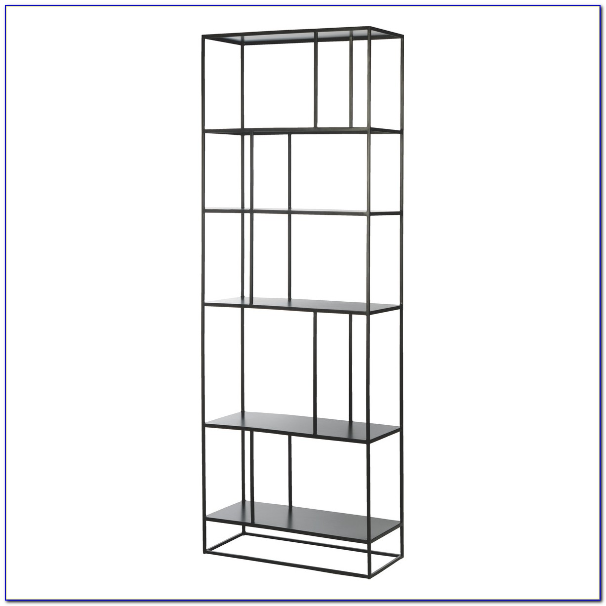 Black Metal Frame Bookcase