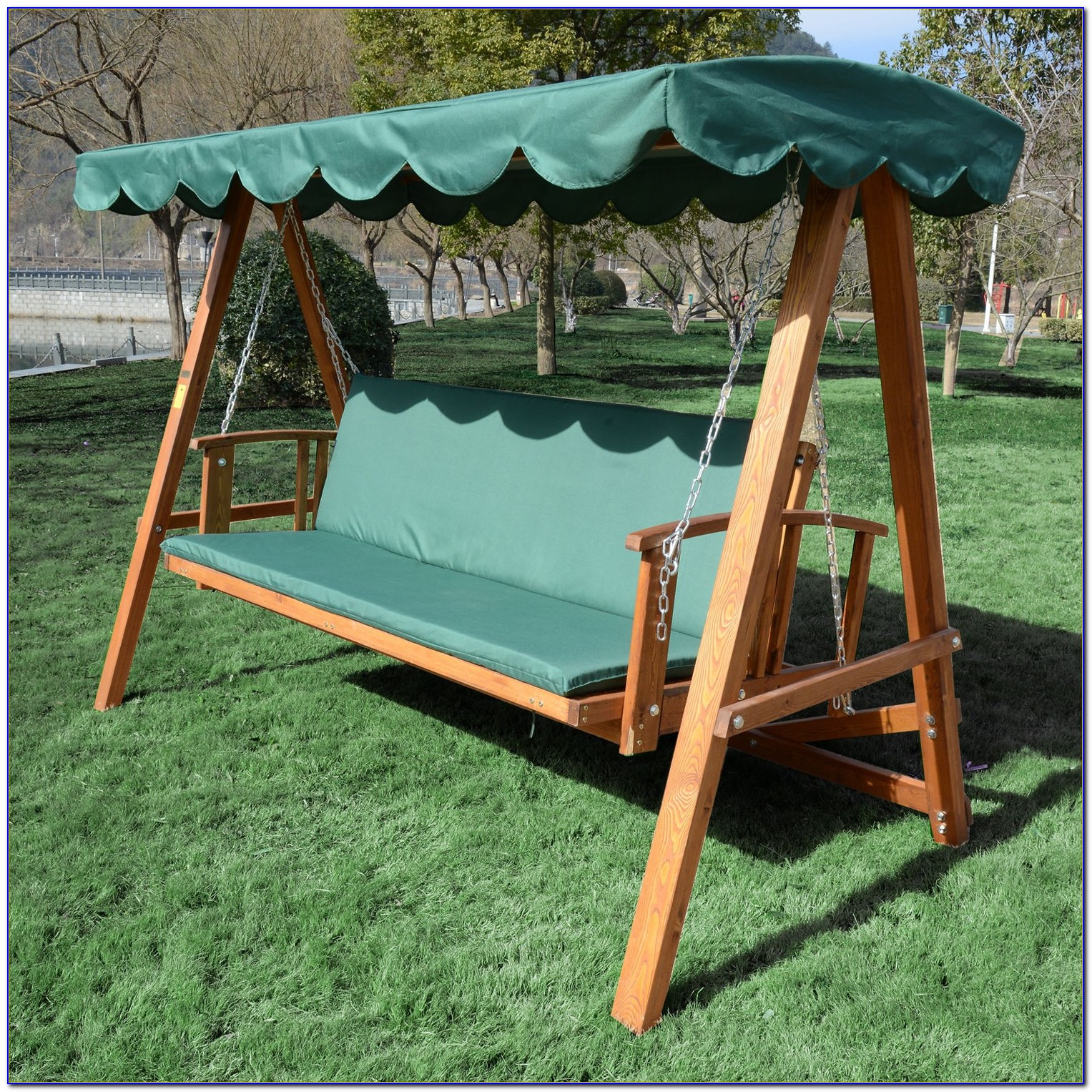 Blooma Aland Wooden Garden Swing Bench