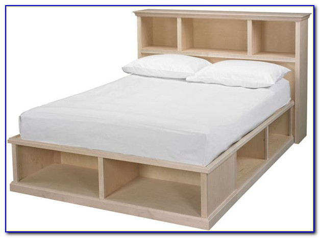 Bookcase Bed Frame Queen