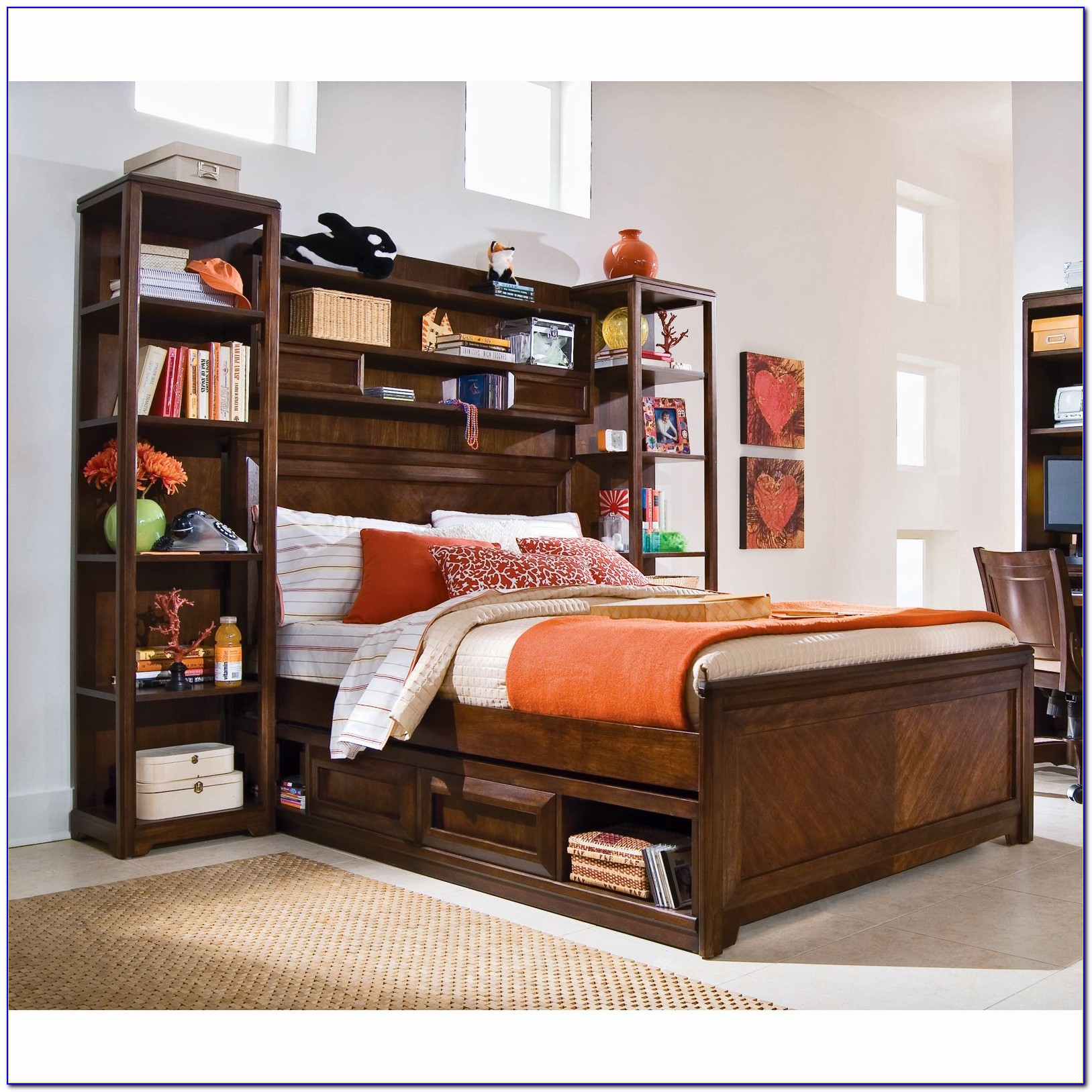 Bookcase Bed Frame Twin