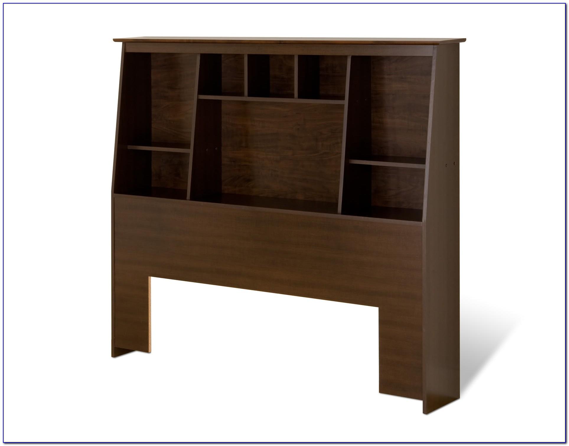 Bookcase Headboard King Solid Wood