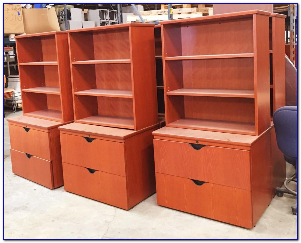Bookcase Over File Cabinet