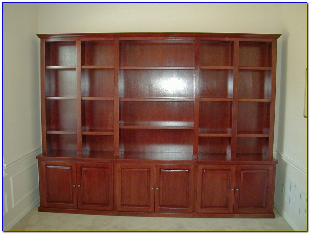 Bookcase Wall Unit With Doors