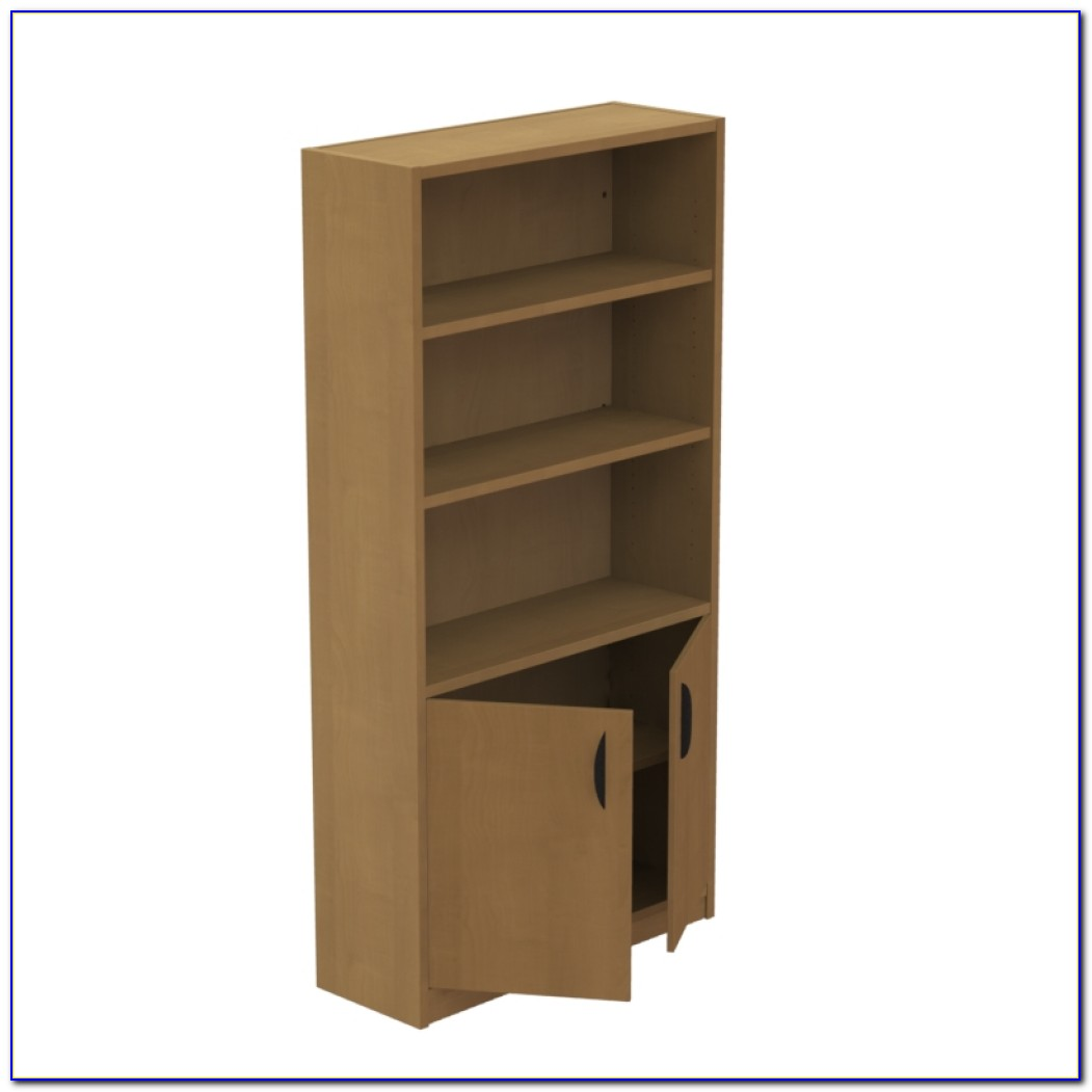 Bookcase With Built In File Cabinet