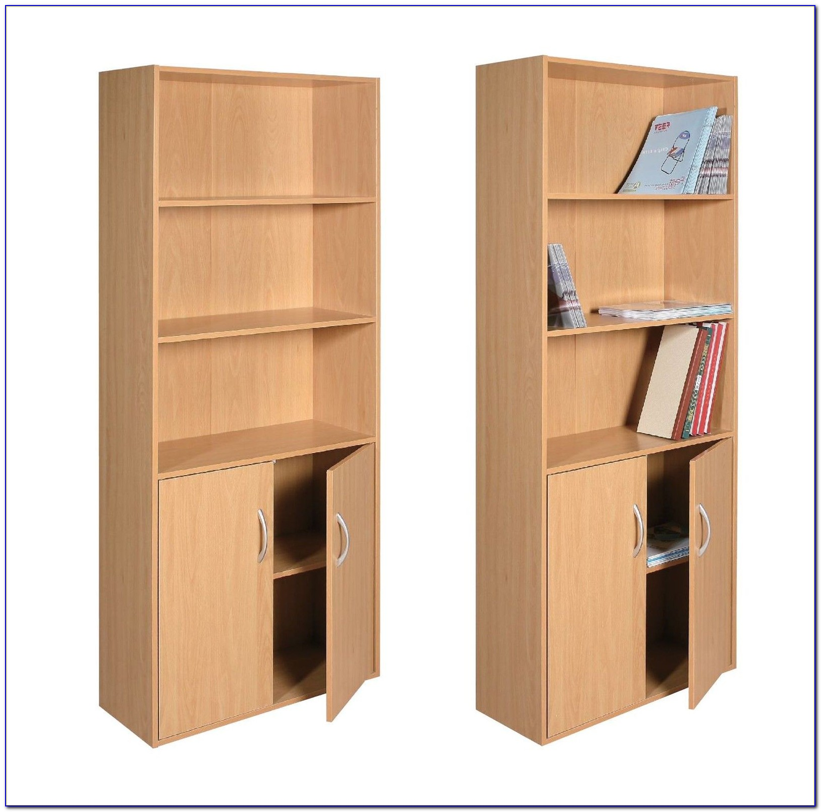 Bookcase With Cabinet Doors