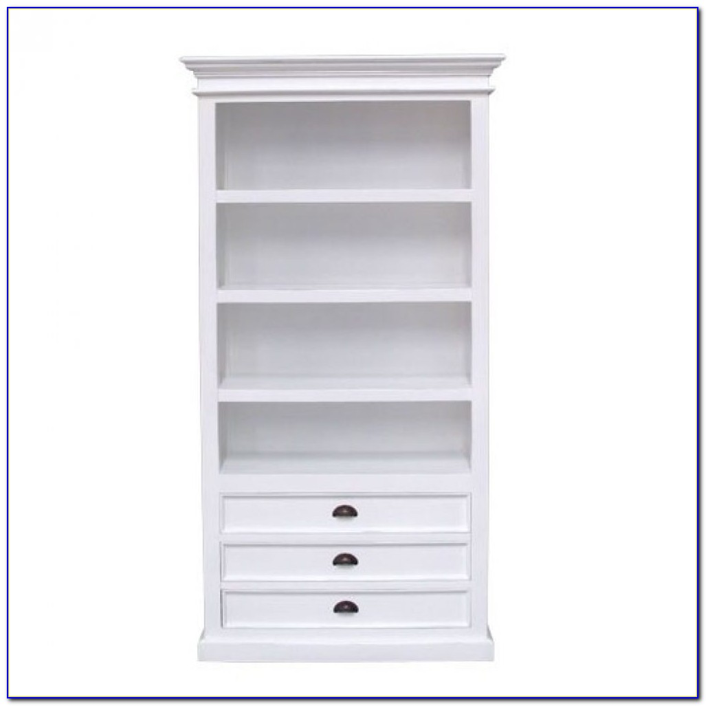 Bookcase With Drawers On Bottom White