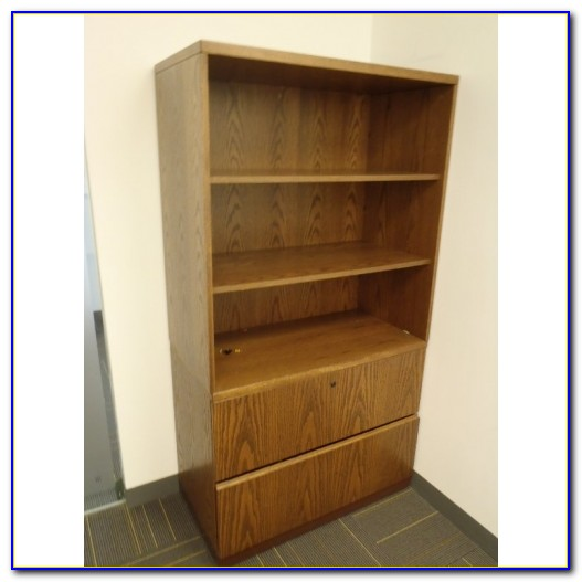 Bookcase With Lateral File Cabinet