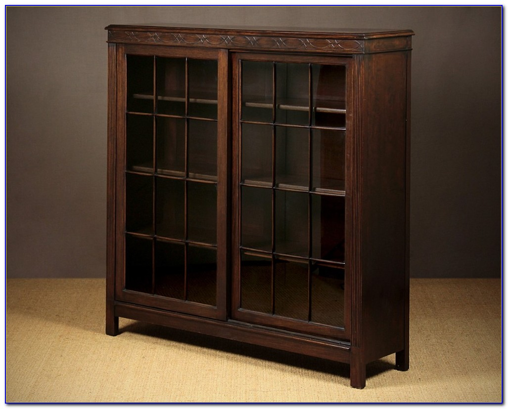 Bookcase With Sliding Doors Furniture On The Web