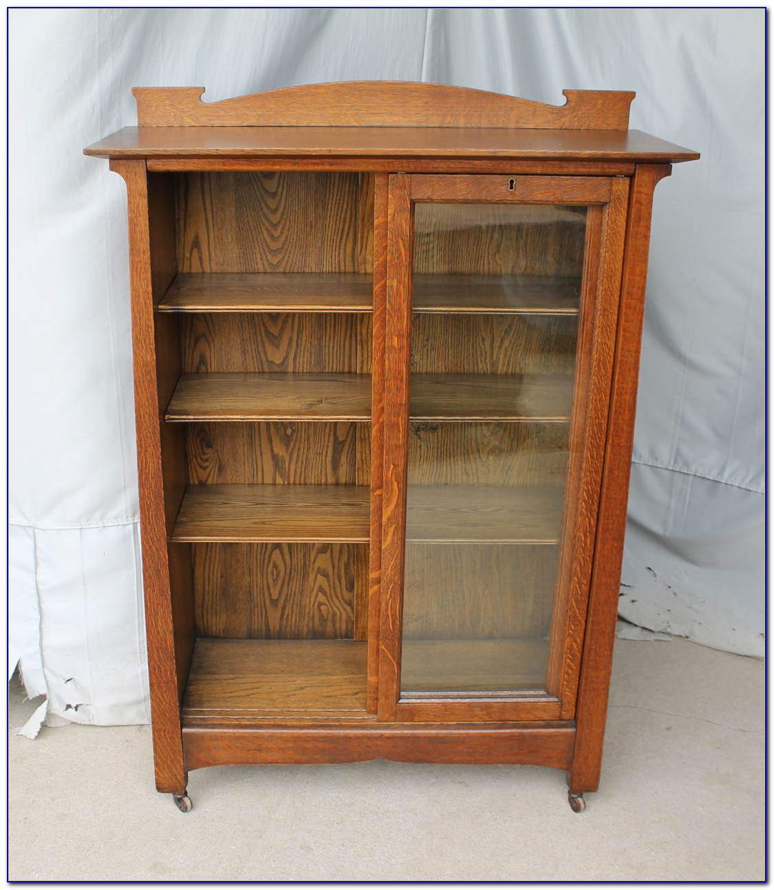 Bookcase With Sliding Glass Doors