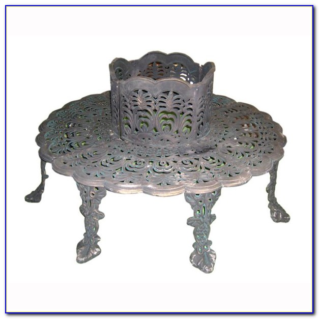 Cast Iron Tree Bench
