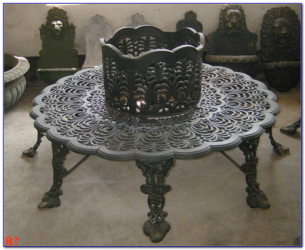 Cast Iron Tree Of Life Bench