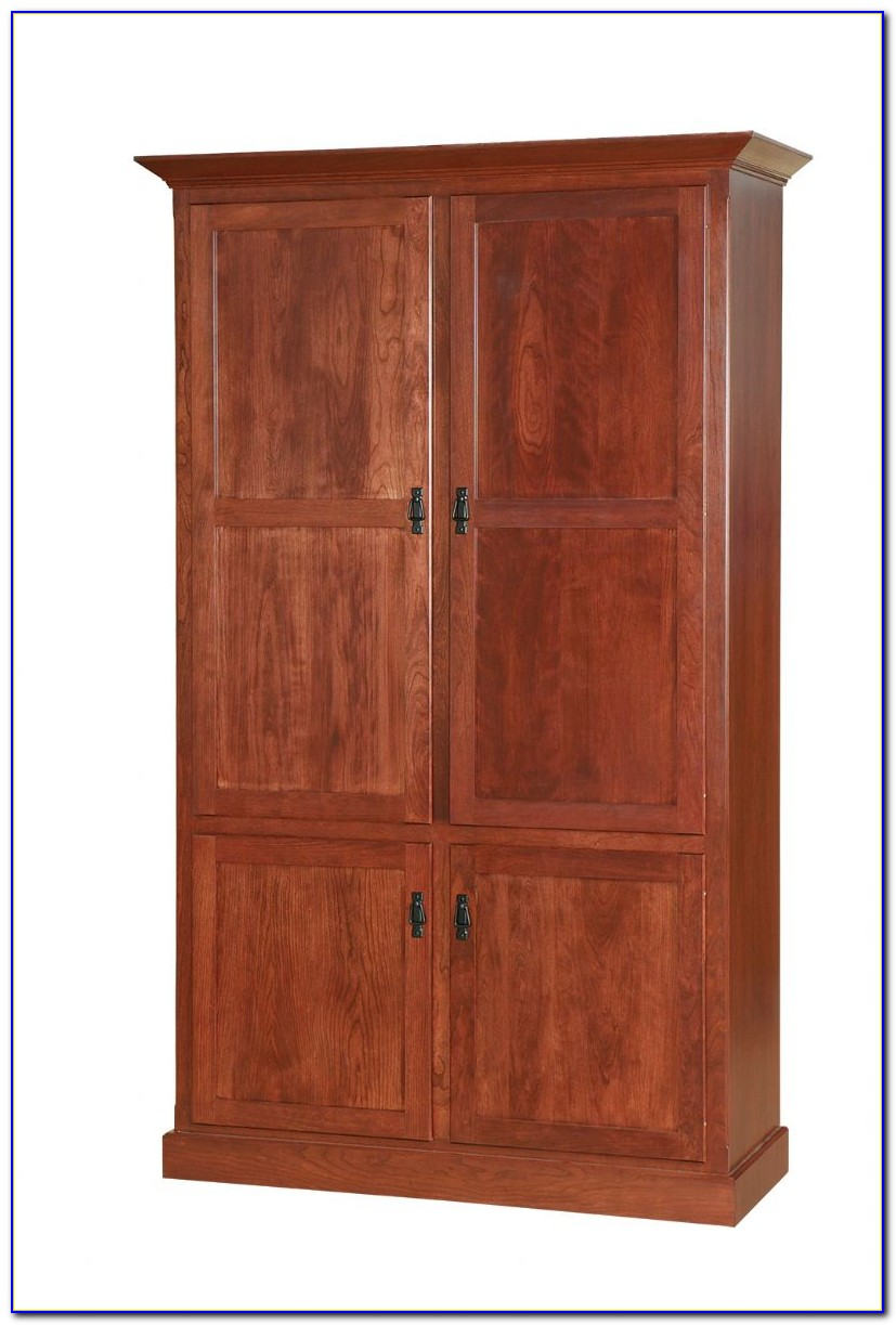 Cherry Wood Bookcases With Doors