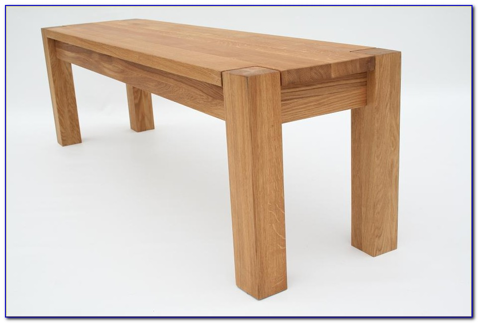 Chunky Oak Dining Table And Bench